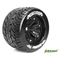 "1/8 Monstertruck band op velg zwart 3.8"" 2st"