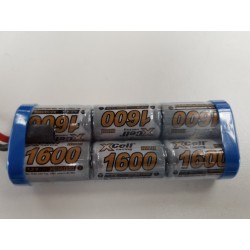 7.2V 1600mah NiMH racingpack 1/16 auto's (geen connector)