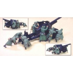 HobbyFAN GERMAN 88MM GUN CREW DAK 9fig.1/35