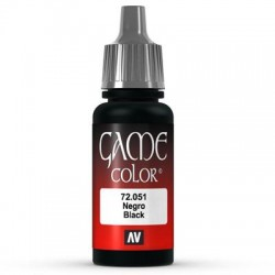 Game color black 17ml.