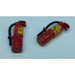 Brandblusser rood metaal 1/10 - 1/12 32mm