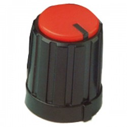 potmeter kartelas knop rood 17x13mm