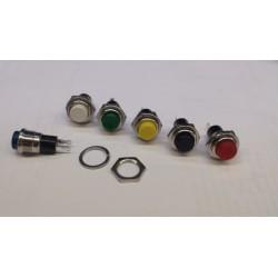 puls bouton zwart gat-11mm 1Amp