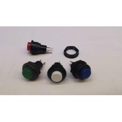 puls bouton pvc zwart gat-12mm 1Amp