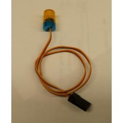 Enkel LED zwaailicht rond oranje