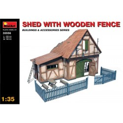 SHED WITH WOODEN FENCE 1/35