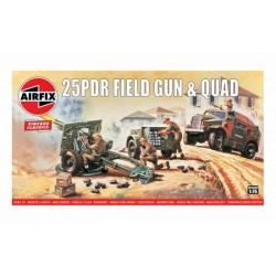 25PDR FIELD GUN & QUAD 1/76