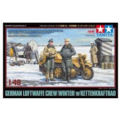 GERMAN LUFTWAFFE CREW W/KETTENKRAFTRAD 1/48