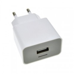 Universeel USB adapter 2100mA wit