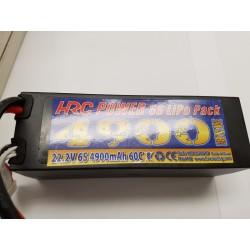 6S lipo accu 22.2V 4900mAh hardcase 60C 14047x49mm
