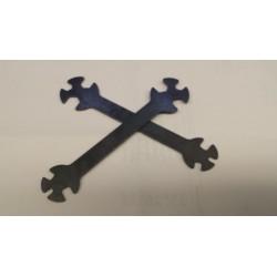 Steeksleutel 3-4-5-5,5- 7 en 8mm staal