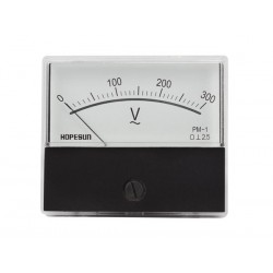 Paneelmeter 300v AC analoog 60x70mm