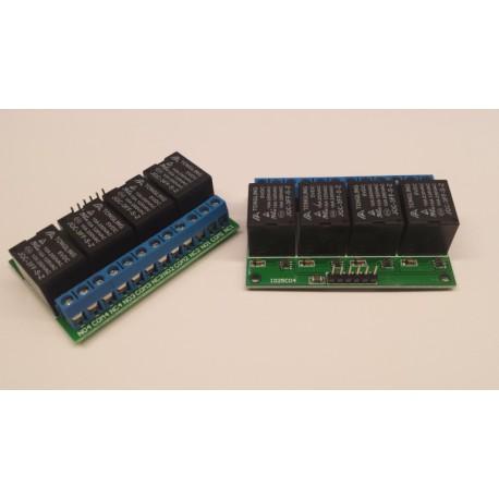 5v  relaismodule 4x puls aan / puls uit