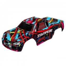 Traxxas TRX3649 body stampede PAINTED HAWAI
