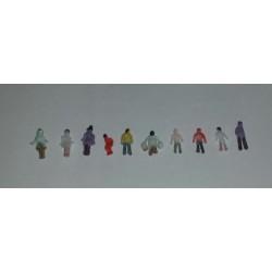 10x figuren 1/200 geschilderd H-7-10mm