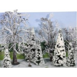 10 stuks winterbomen van 7-14cm