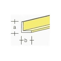 Messing L-profiel (B)2x(A)1mm 1mtr.