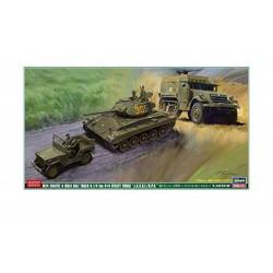 M24 CHAFFEE & M3A1 & 4X4 TRUCK 1/72
