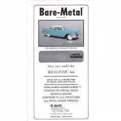Bare Metal Foil matt aluminium 15x30cm