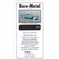 Bare Metal Foil black chrome 15x30cm