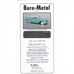 Bare Metal Foil chrome 15x30cm