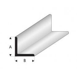 Styrene kunststof L-profiel 6x6mm 1mtr