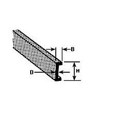 U profiel 6,4 x 2 mm L-60cm