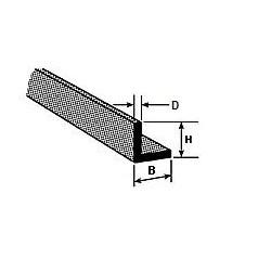 ABS hoekprofiel 1,6 mm L-25cm