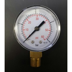 Manometer 0-4 Bar (0-60 PSI) 1/4 ""