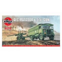 AEC MATADOR AND 5.5 GUN 1/76