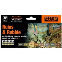 Model Air Ruins & Rubble 8x17ml.