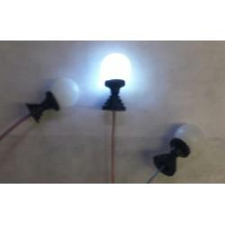 lampvoetje met bol (6.5mm) 3volt LED 10mA