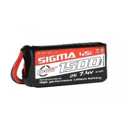 2s Lipo accu 7,4V 1500mAh 45C (XT-60) 77x35x17mm