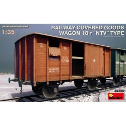 RAILWAY COVERED GOODS WAGON 18T NTV TYPE 1/35