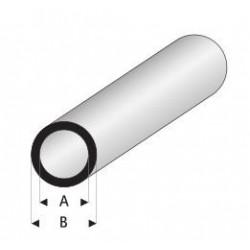 Styrene kunststof rond buis 8x6mm 1mtr.