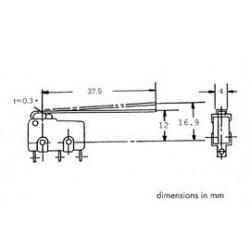 microswitch 33mm hefboom