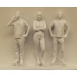 3x figuurtjes 1/25  L-75mm