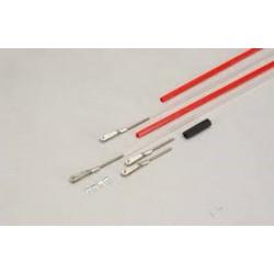 2x stuurkabel red/white flexible 122CM