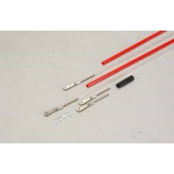 2x stuurkabel red/white flexible 91CM