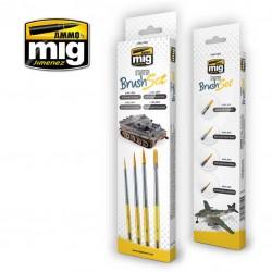 MIG7602 basis penselen set 4st.