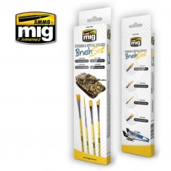 MIG7604 penselen set voor streaking & vertical surfaces 4st.