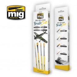 MIG7605 penselen set voor panel lines & fading