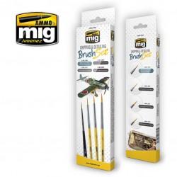 MIG7603 penselen set voor chipping & details 4st.