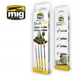 MIG7601 penselen set voor dioramas en scenery 4st.