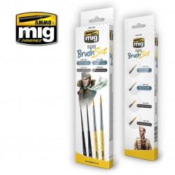 MIG7600 penselen set voor figuren 4st.