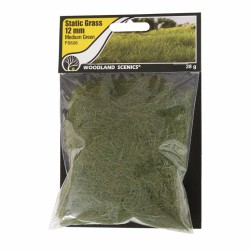 Woodland Scenics FS626 Static Grass, medium Green 12mm 28gram