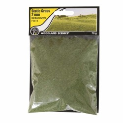 Static Grass, medium Green 2mm 70gram