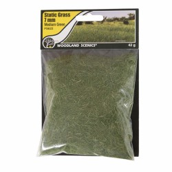Woodland Scenics FS622 Static Grass, medium Green 7mm 42gram
