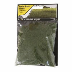 Static Grass, Dark Green 12mm 28gram
