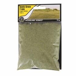 Static Grass, light Green 2mm 70gram